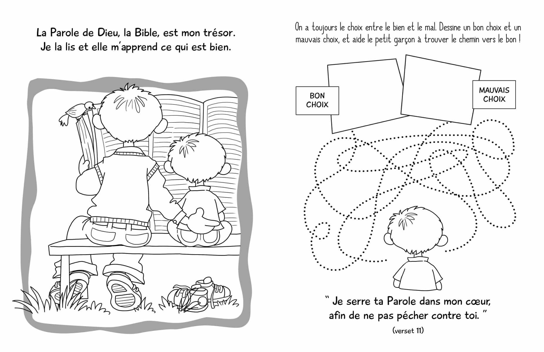 Le psaume 119 album de jeux et de coloriages - Jeux et coloriage ...